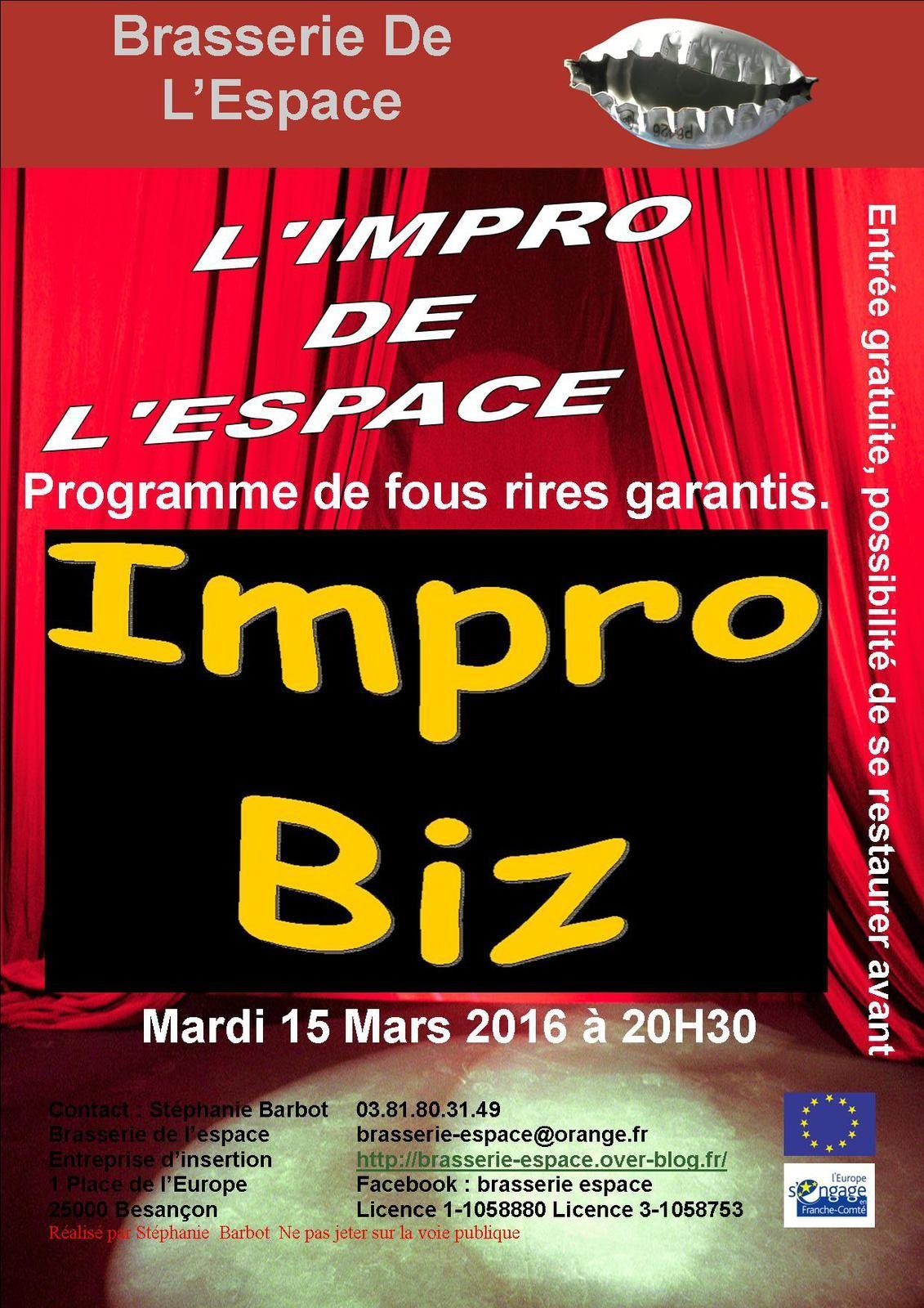 Théâtre d'Impro 15 mars 2016