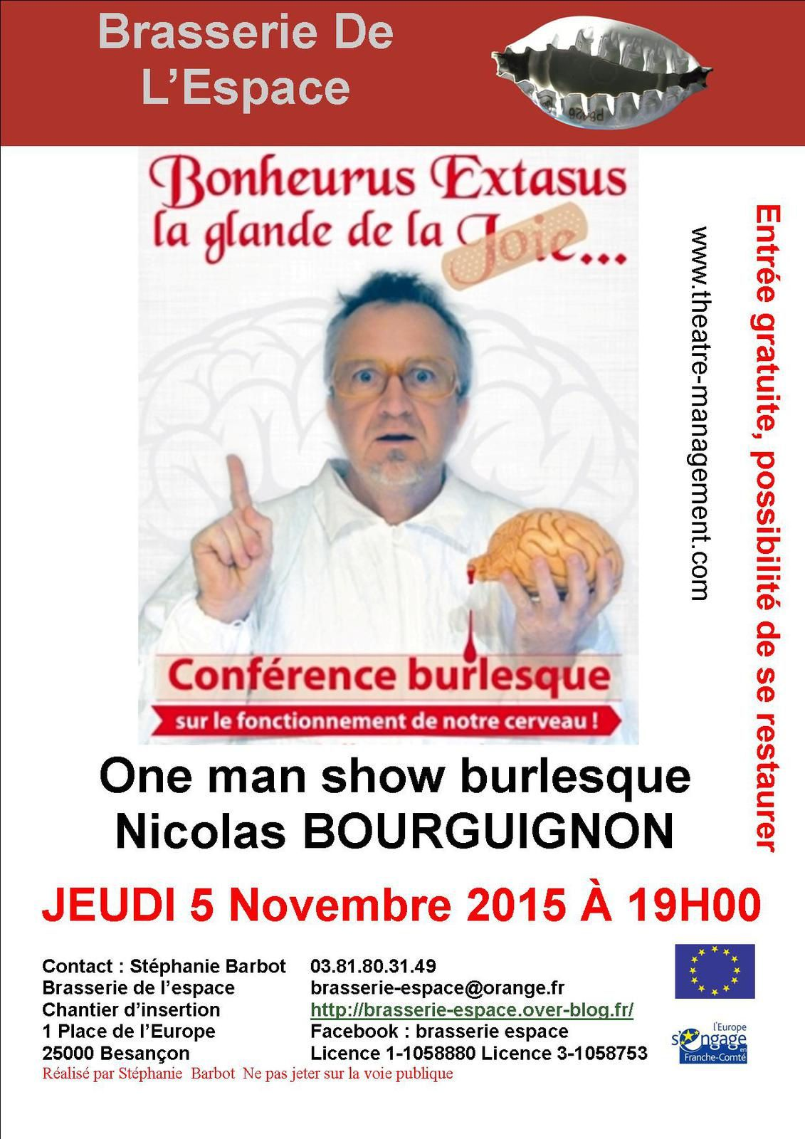 One man show burlesque 5 Novembre 2015