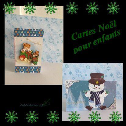 CARTES BRICOLAGE DE NOEL POUR ENFANTS