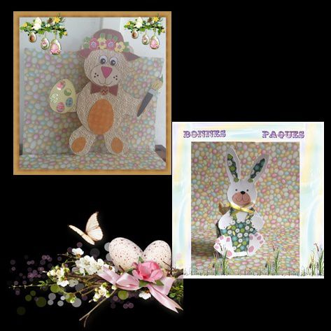PAQUES: OURS ET LAPIN