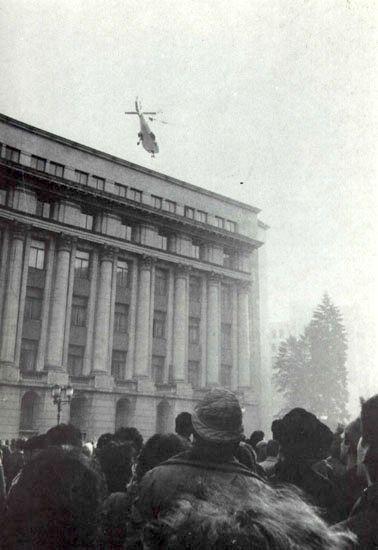 La fuite en hélicoptère.