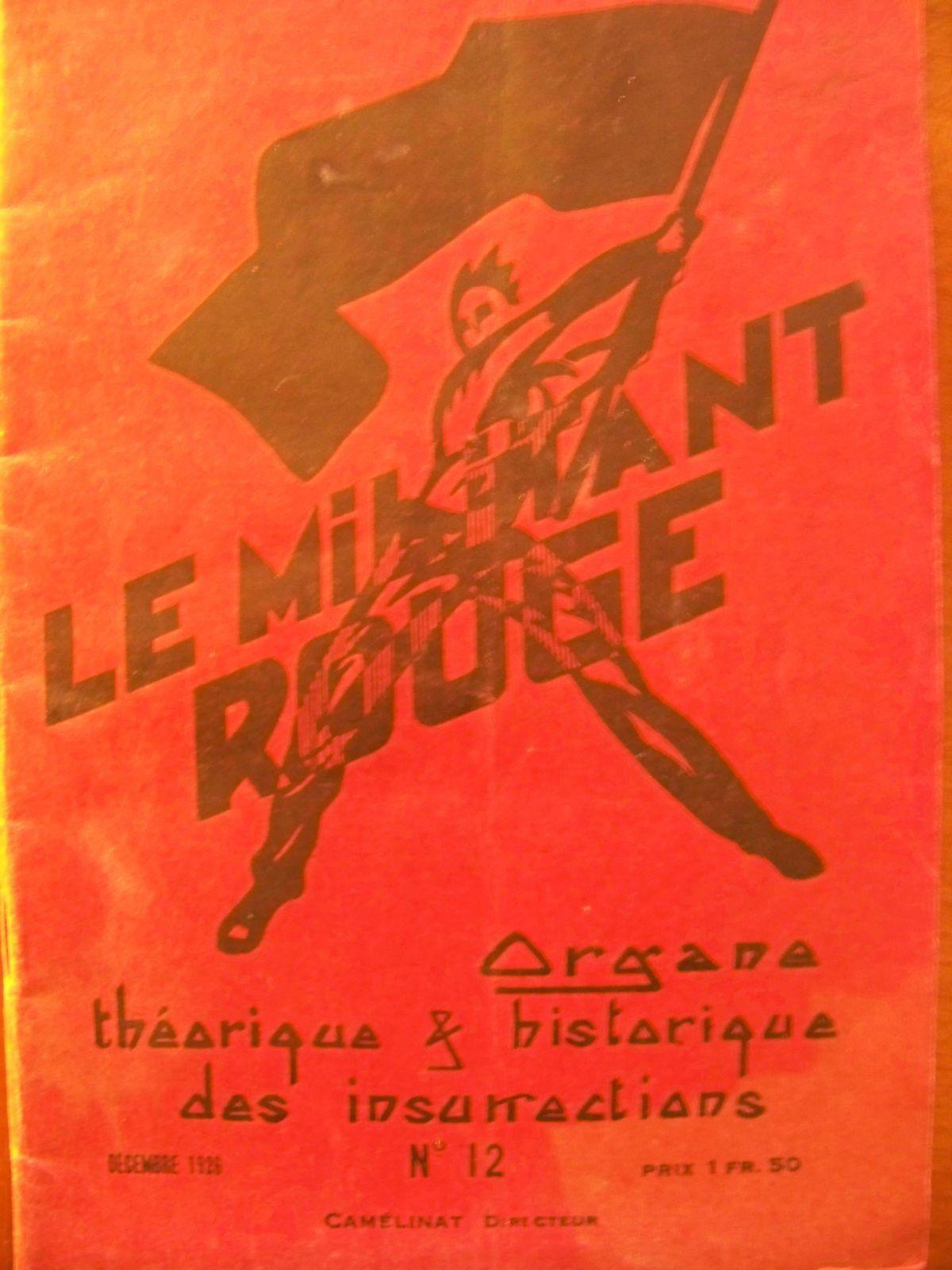 Une revue insurrectionnelle, le Militant rouge.