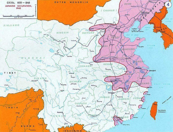 L'occupation japonaise en Chine en 1940