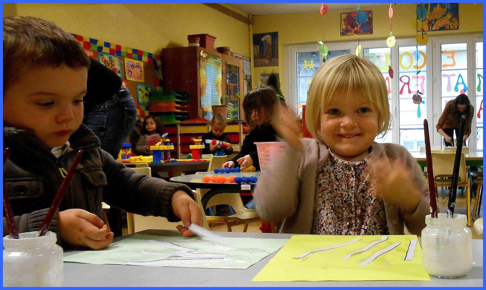 Les plus petits de la maternelle, à l'école Saint Pierre de Casseneuil .