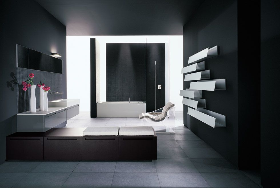 salle de bain contemporaine et cr ative la maison de miss sandra. Black Bedroom Furniture Sets. Home Design Ideas