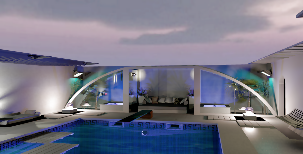 design 3d piscine exterieure la maison de miss sandra. Black Bedroom Furniture Sets. Home Design Ideas