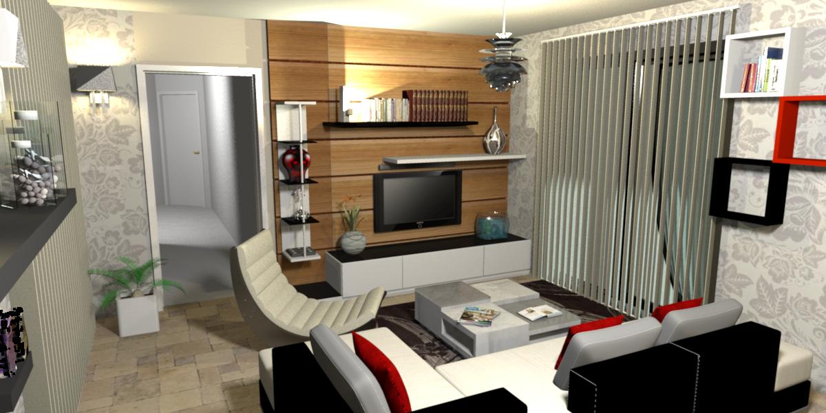 Design 3d interieur de salon guadeloupe la maison de for Architecture interieur 3d