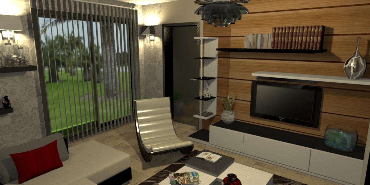 Design intérieur 3D de villa Guadeloupe