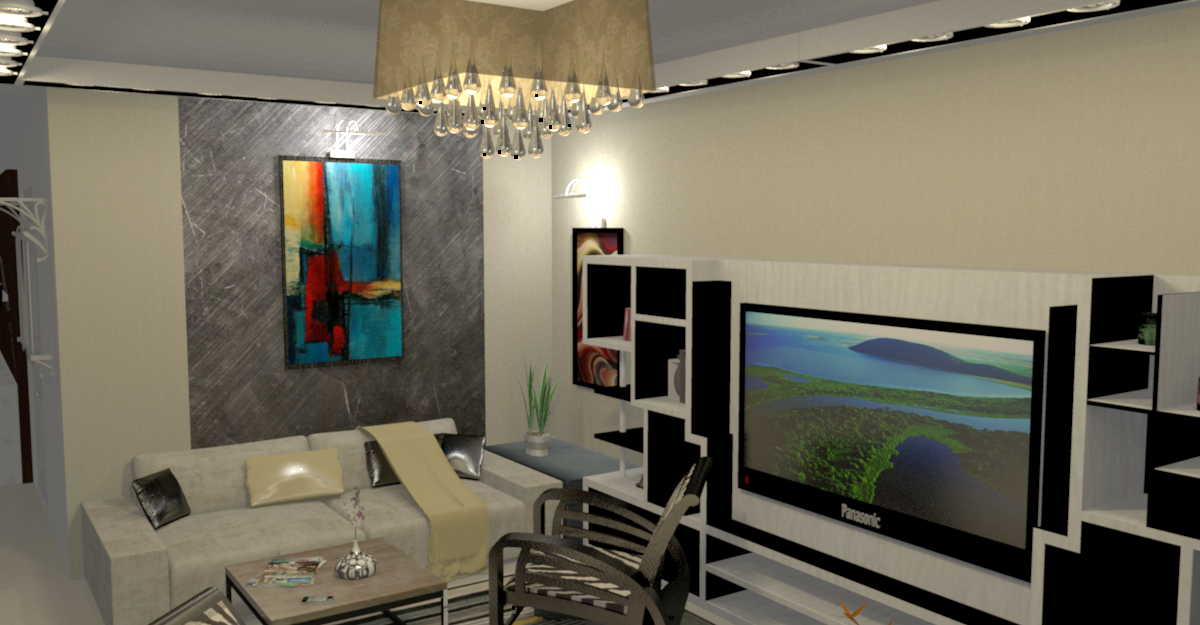 Design 3d d coration int rieure maroc la maison de for Design interieur salon