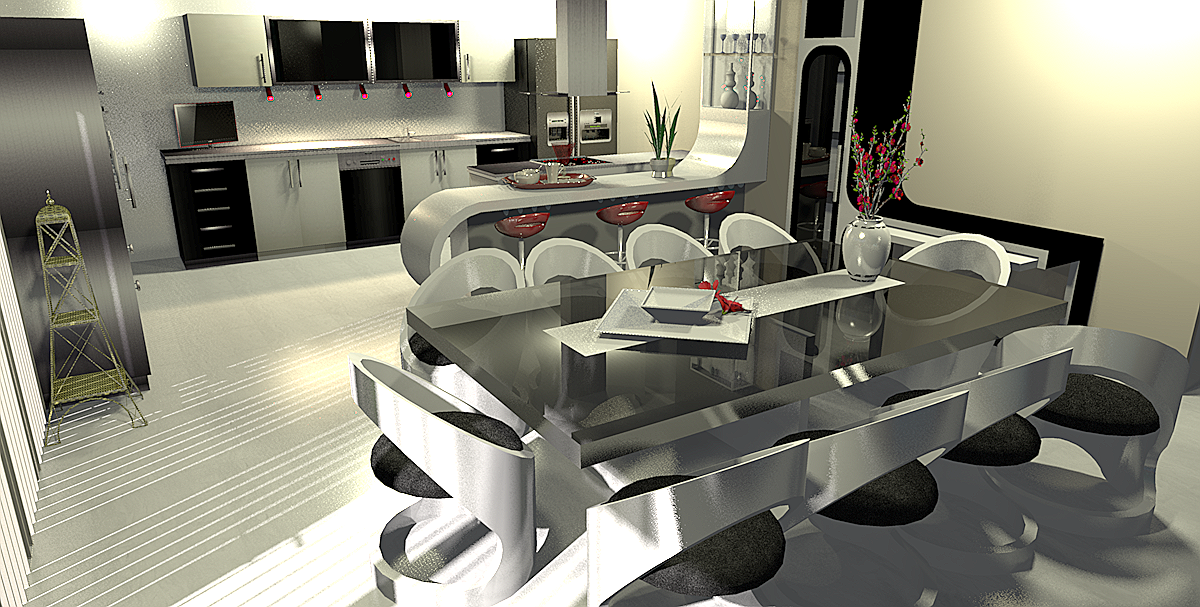Design 3 d interieur la maison de miss sandra for Interieur 3d