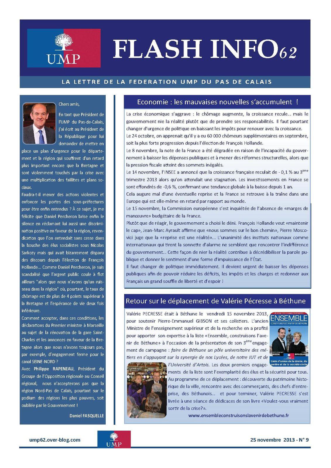 Flash-info n°9 du 25 novembre 2013