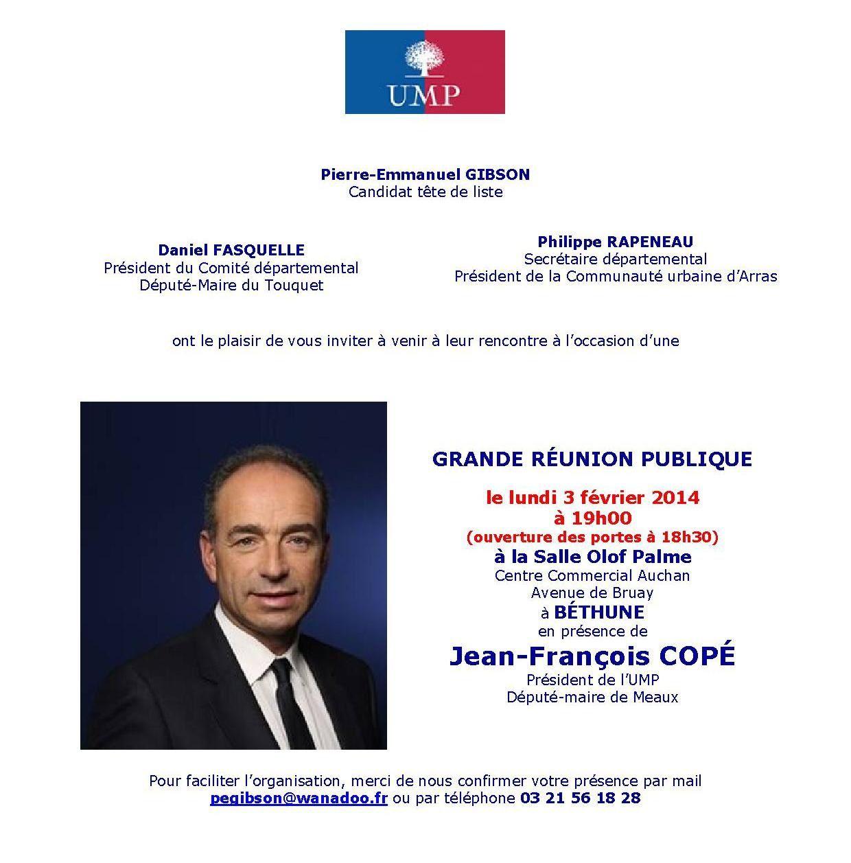 Retour sur déplacement de Jean-François Copé à Lens et Béthune le 3 février 2014