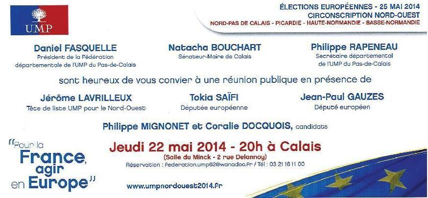 Rappel : réunion publique avec Jérôme LAVRILLEUX le jeudi 22 mai à Calais