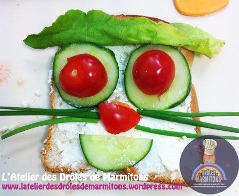 Des sandwichs pour les enfants en forme de Vache et Chat &#x3B;)