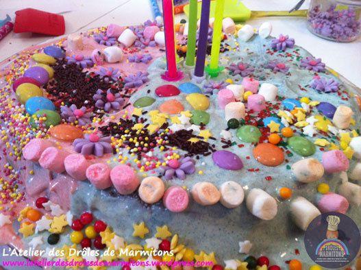 Un gâteau d'anniversaire très très gourmand !