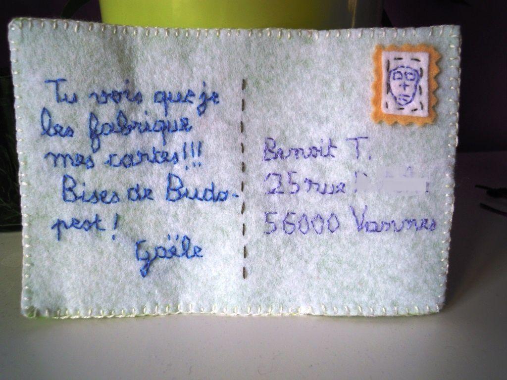 Cadeau FB # 1 : la carte &quot&#x3B;faite main&quot&#x3B;