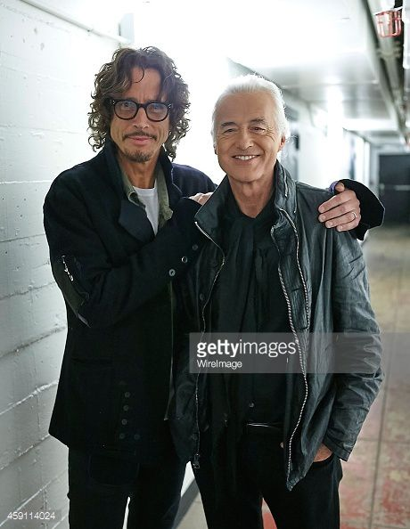 Jimmy Page En Visite Au Royal Albert Hall Au Concert De Chris Cornell