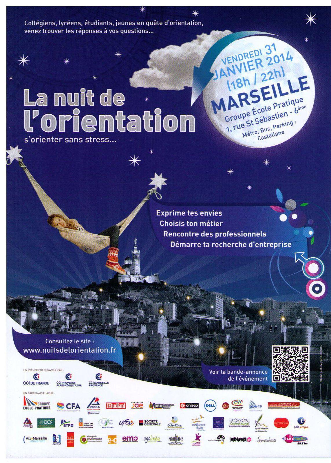 Nuit de l'Orientation Professionnelle, Marseille 31/01/2014