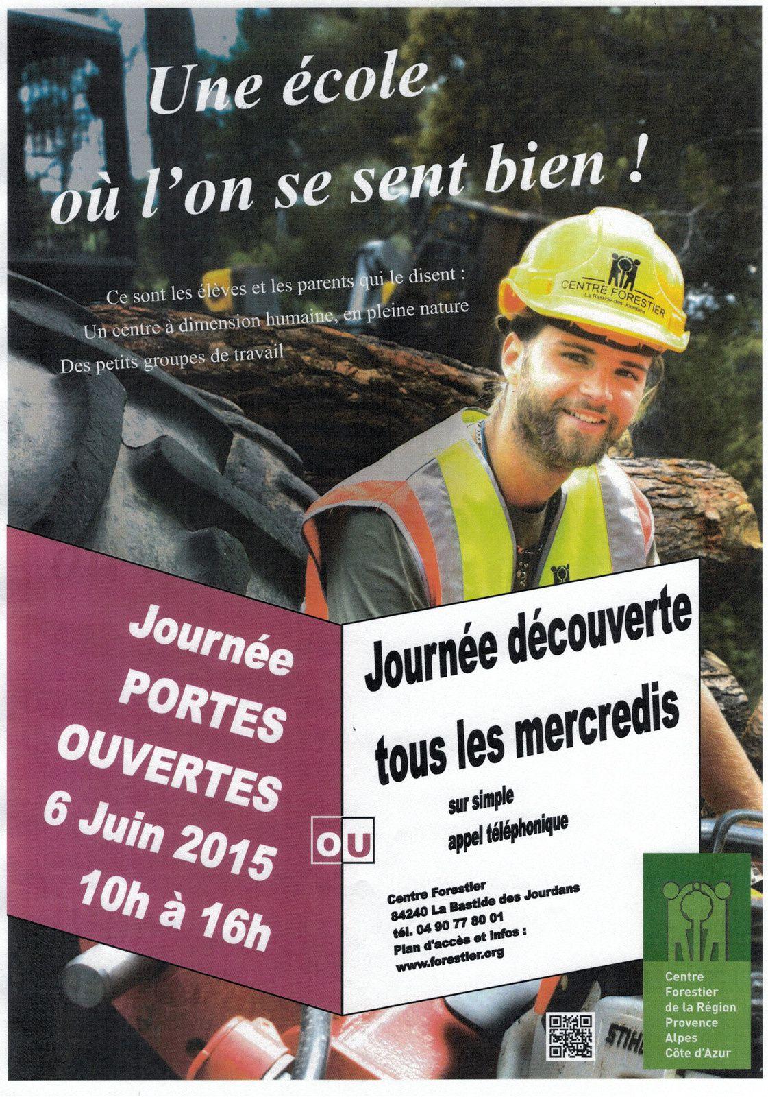 Formation aux métiers de la forêt: journée portes ouvertes La Bastide des Jourdans samedi 06/06/2015