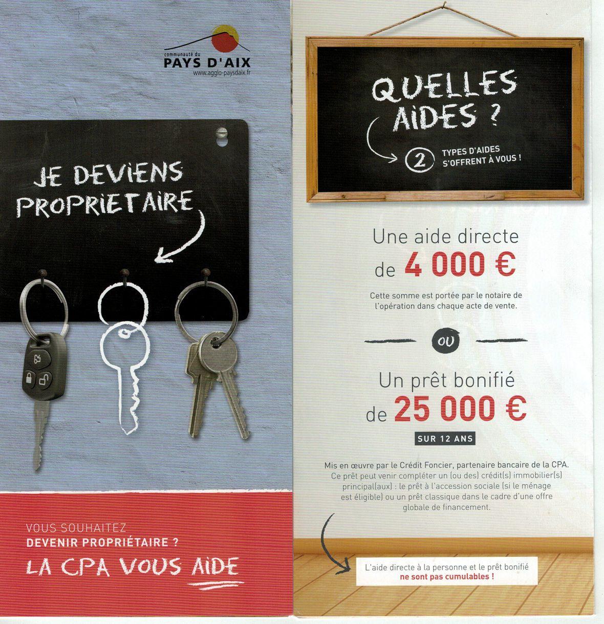 Logement-Habitat: Les aides de la Communauté du Pays d'Aix