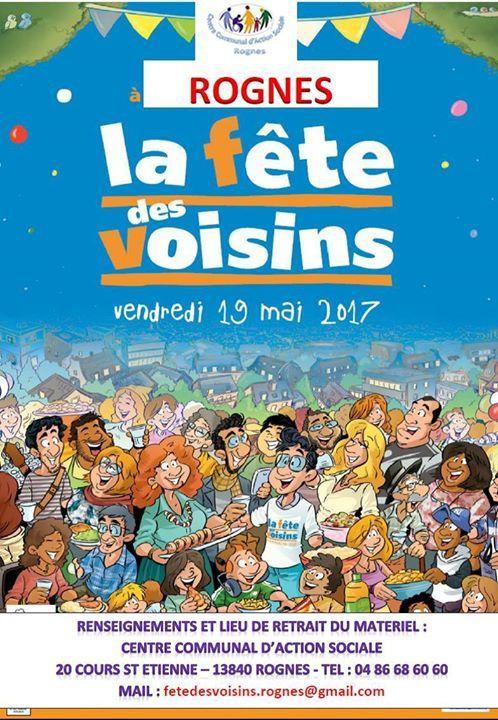 FÊTE DES VOISINS à Rognes 19 mai 2017