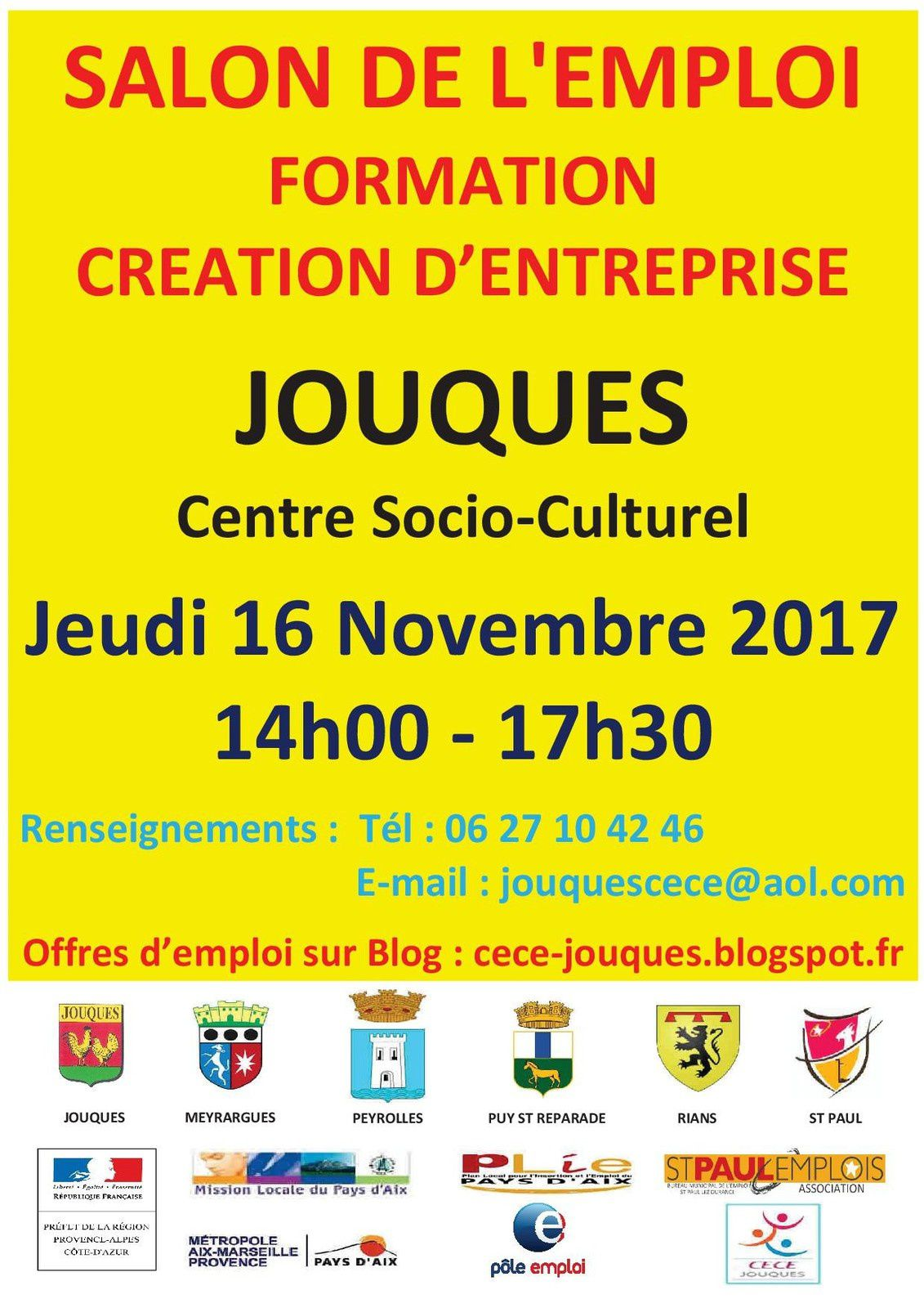 Salon de l 39 emploi de la formation et creation d 39 entreprise for Salon recrutement 2017