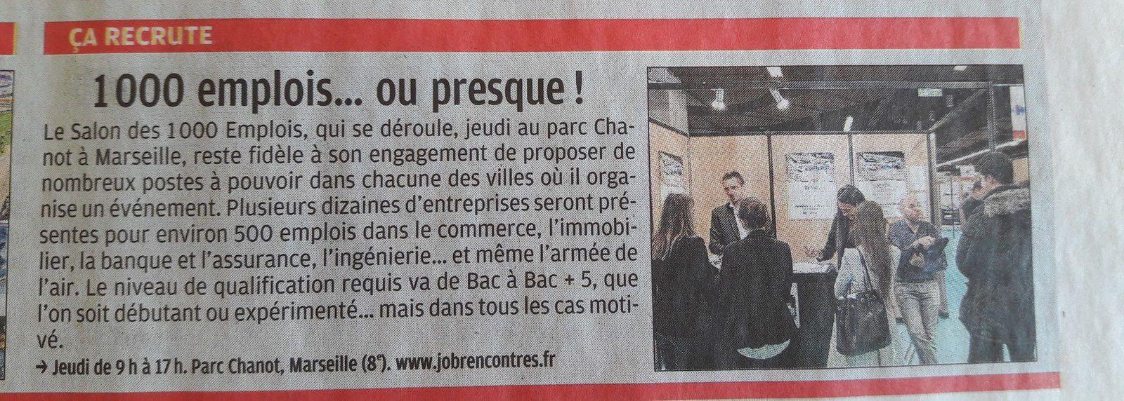 Salon des 1000 emplois jeudi 22 fevrier au parc chanot for Salon parc chanot