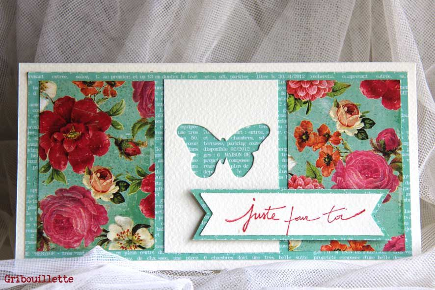 """Carte """"Roses anciennes"""""""
