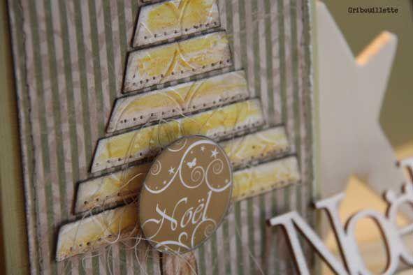 Carte de Noël_un sapin en kit de papier