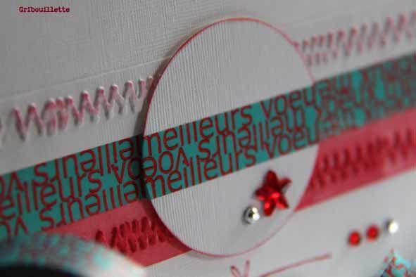 """Carte_Masking Tape """" Meilleurs Voeux"""" Artémio de chez Creavea"""