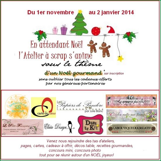 Carte n°1 _ &quot&#x3B;Noël gourmand&quot&#x3B;
