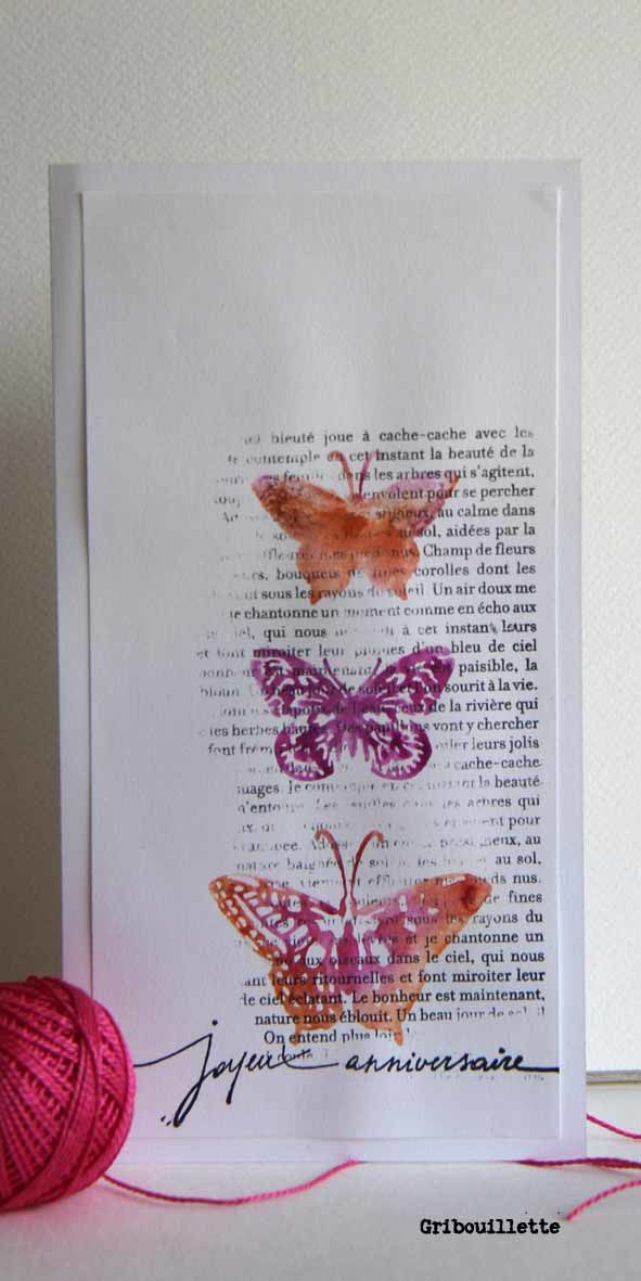 "Cartes ""papillons multicolores"""