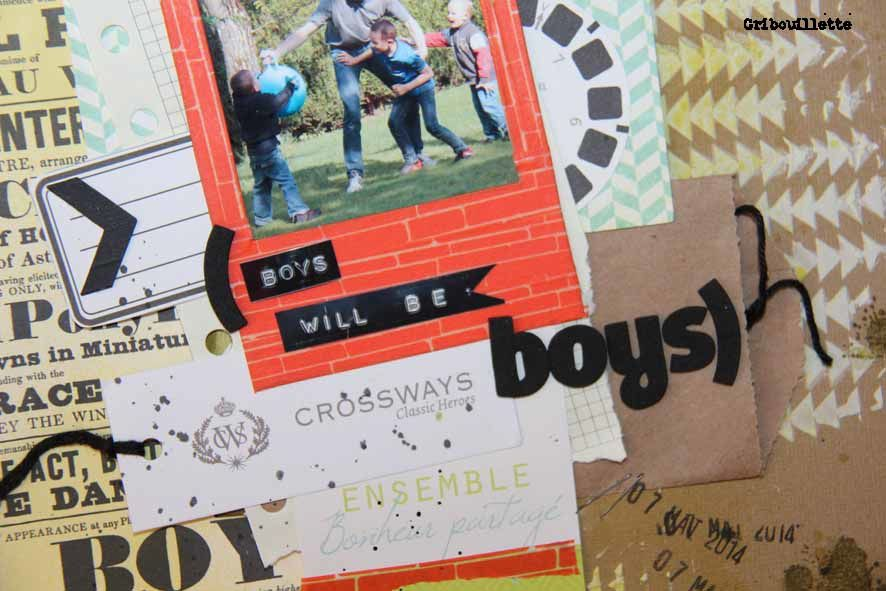 Boys will be boys...Défi 1 InterCoupe Scrap_Atelier à Scrap