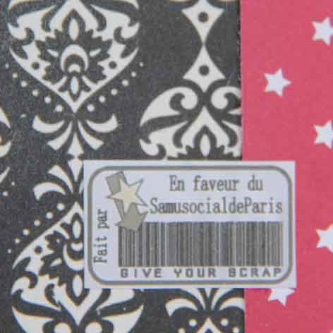 Agendas customisés pour Give Your Scrap