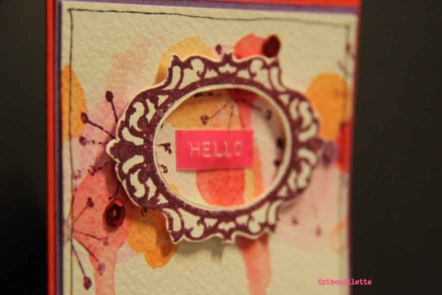Carte &quot&#x3B;Hello&quot&#x3B; sketch Scrap&amp&#x3B;co/combo Scrap ou café