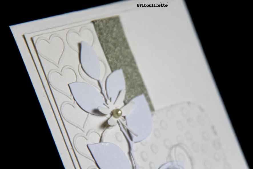 Carte/Inspiration Scrap&Co/blanc & nacré