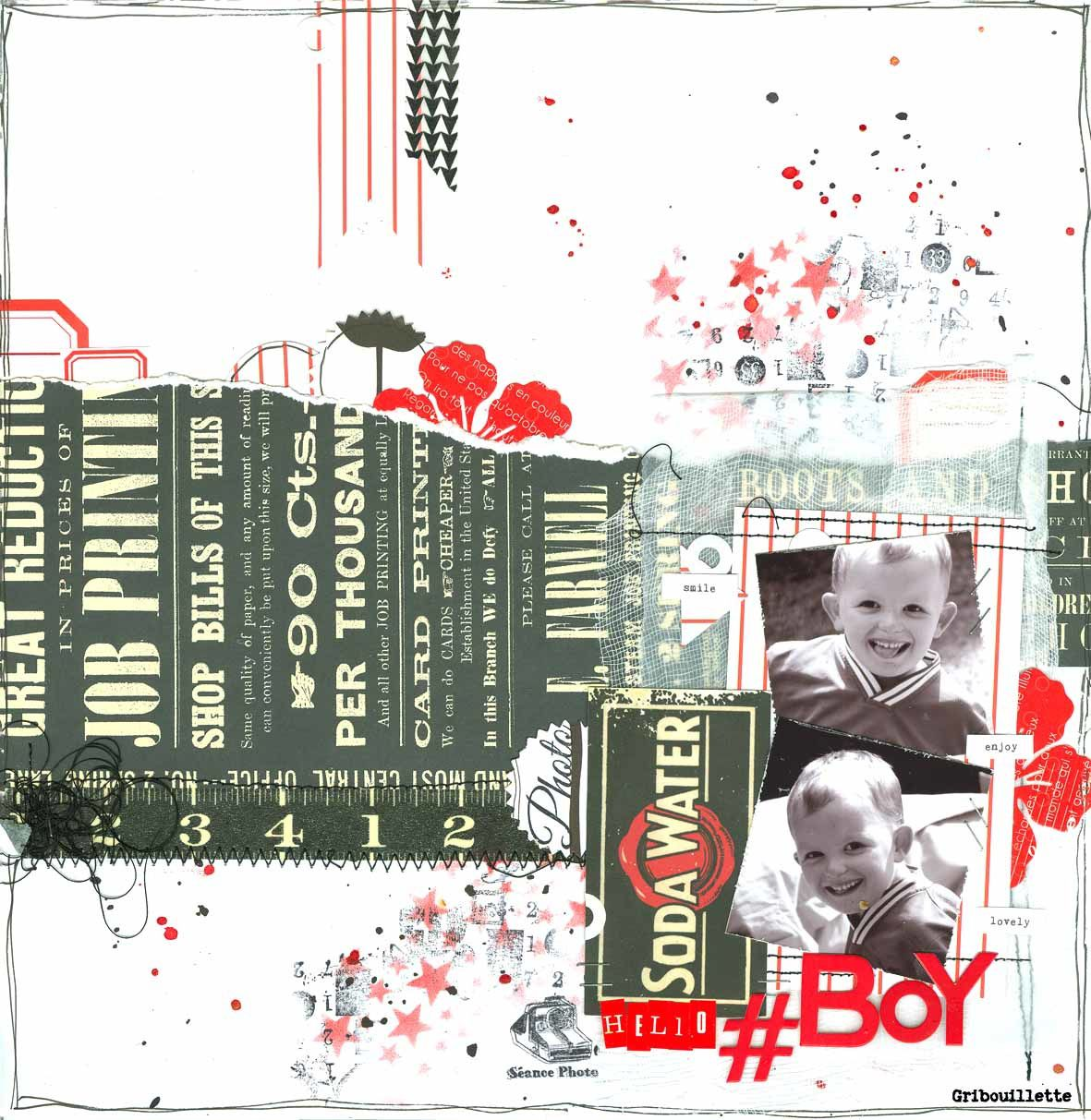 Trois challenges_Scrapbooking Day_Spray&Scrap