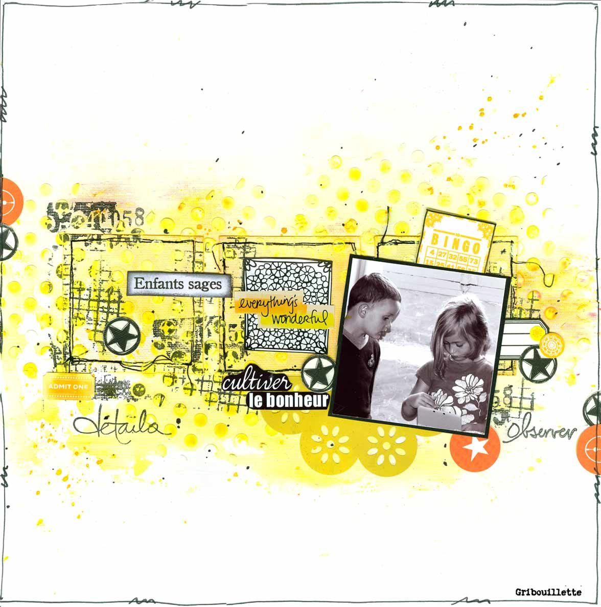 Page de scrapbooking/Enfants sages