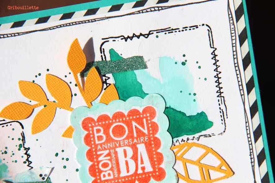 Carte anniversaire_Défi#305 du Créablablablog