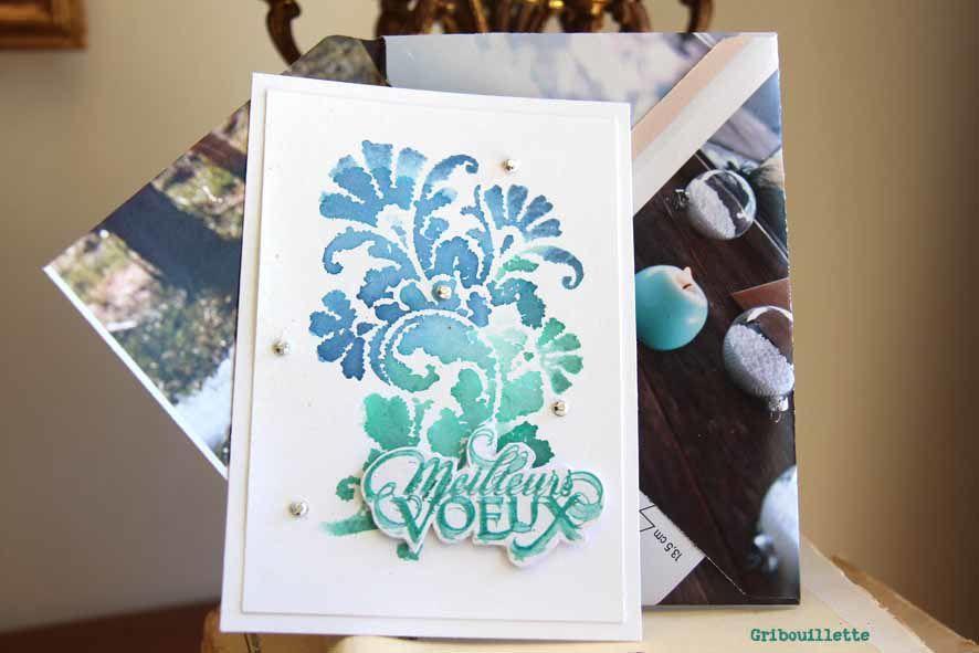 Carte à l'arabesque et son enveloppe