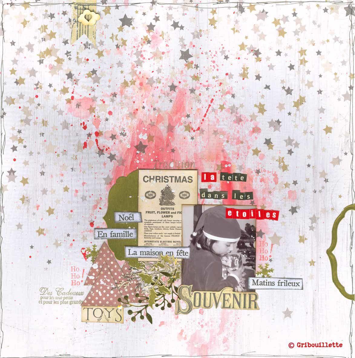 """Page_Design Team Scrap&Co_""""La tête dans les étoiles"""""""