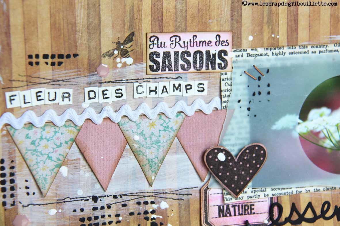 Page de Scrapbooking#Fleur des champs#Détails
