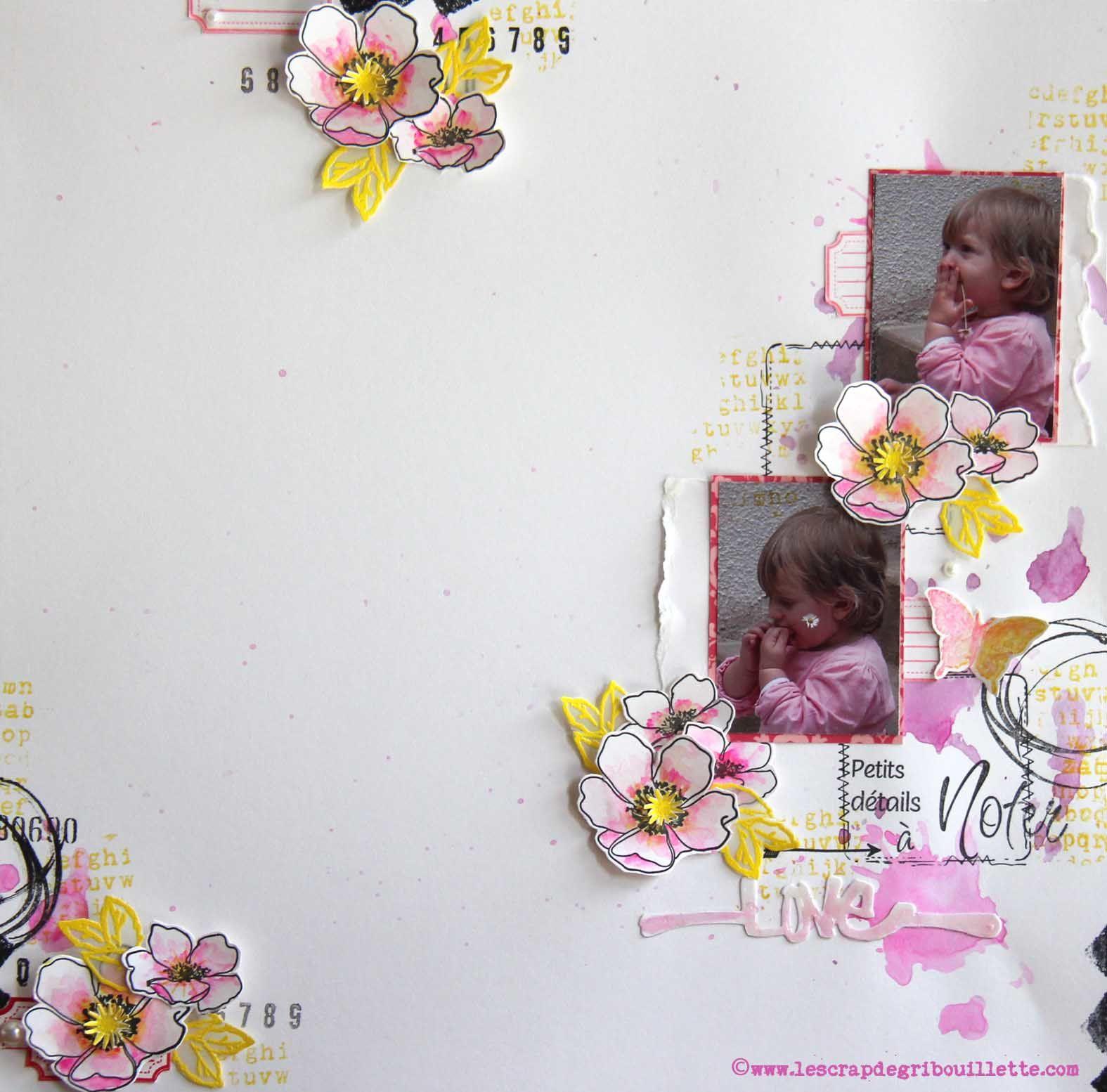 """Page """"Love""""_Défi Inspiration contraintes du blog de La Boîte à Créer"""
