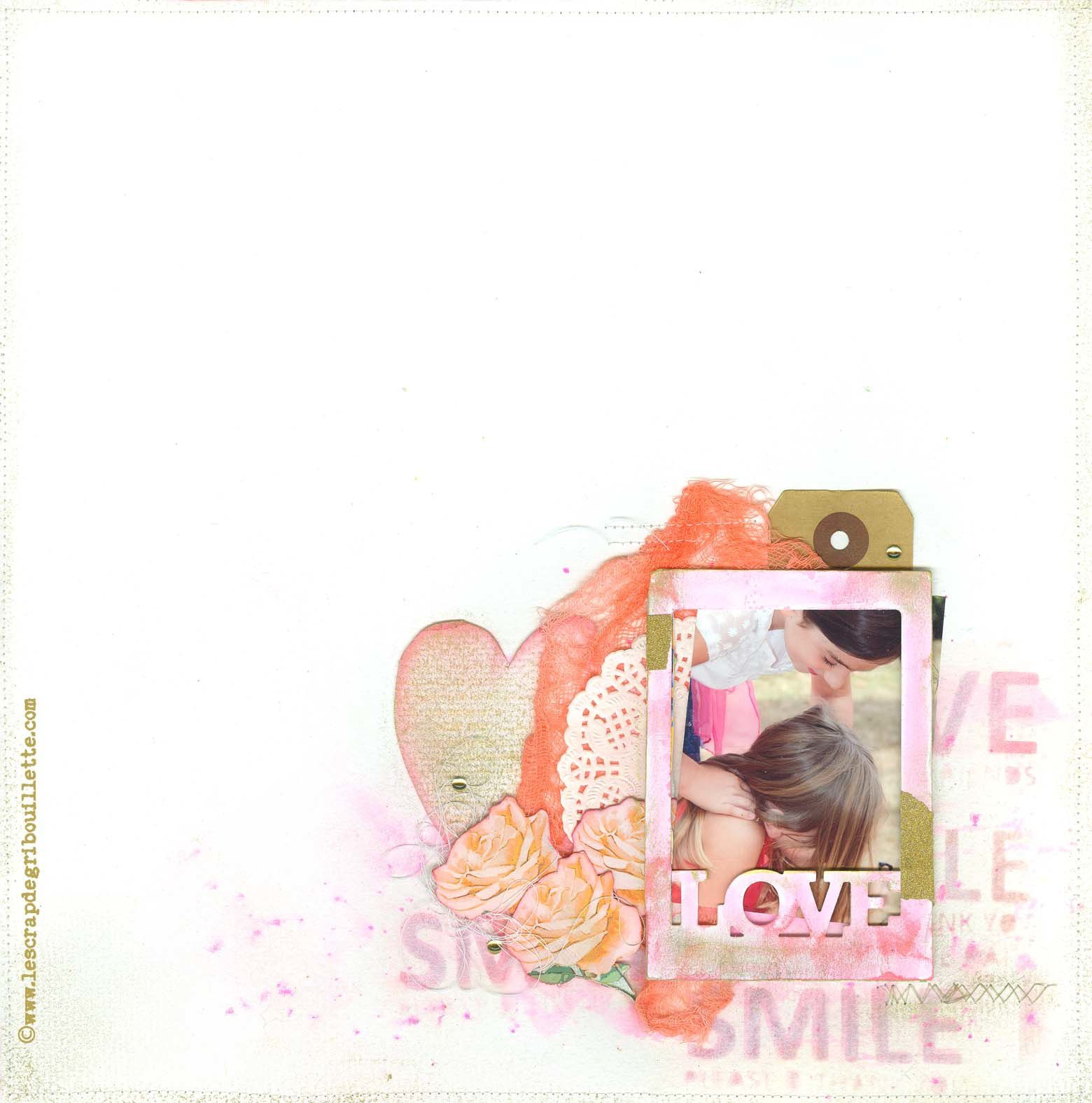 Love and Smile_DT ScrapandCo_Défi sketch page