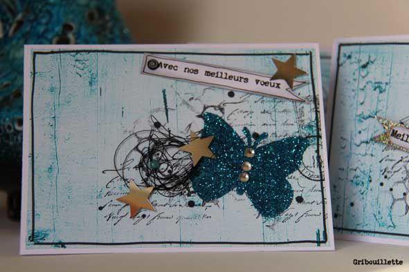 """Bleu """"paillettes"""" et petit cadeau"""