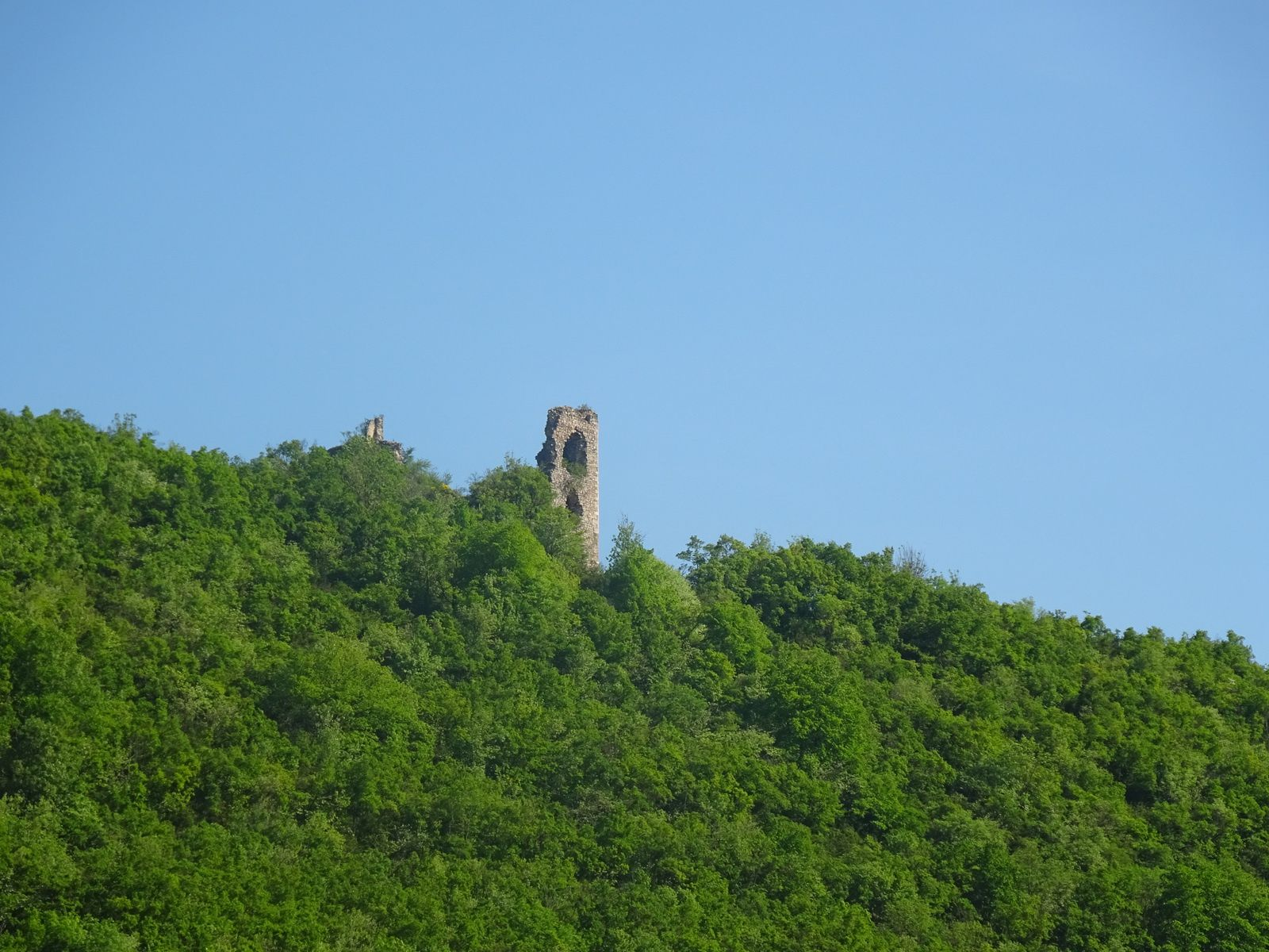 Les ruines du château de Pélafol.