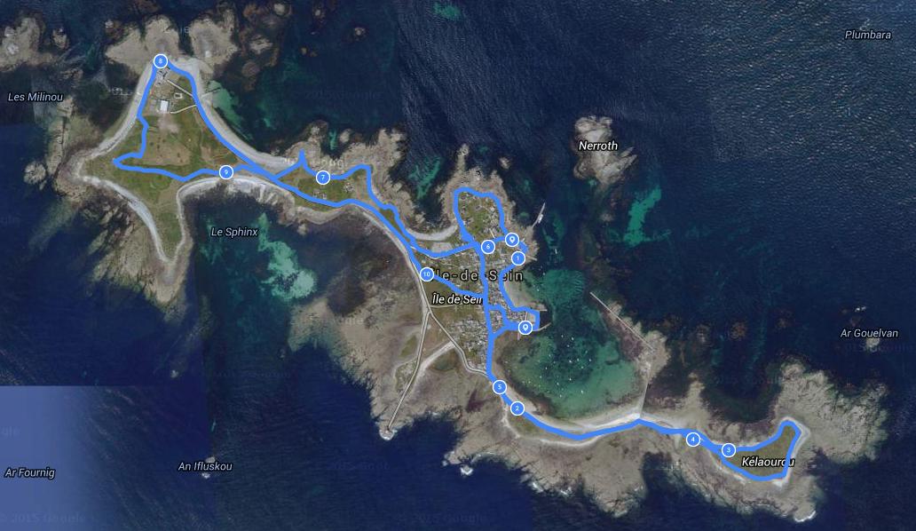 Notre parcours sur l'île