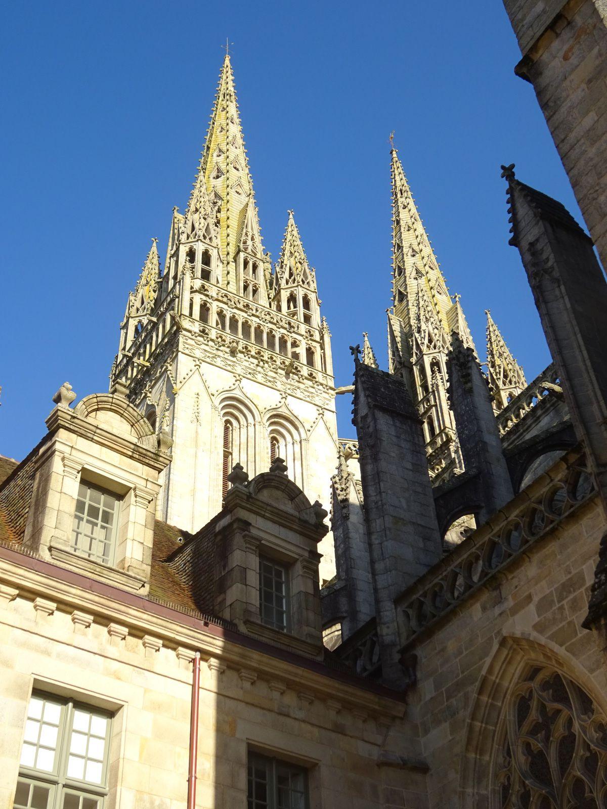 La belle cathédrale de Quimper