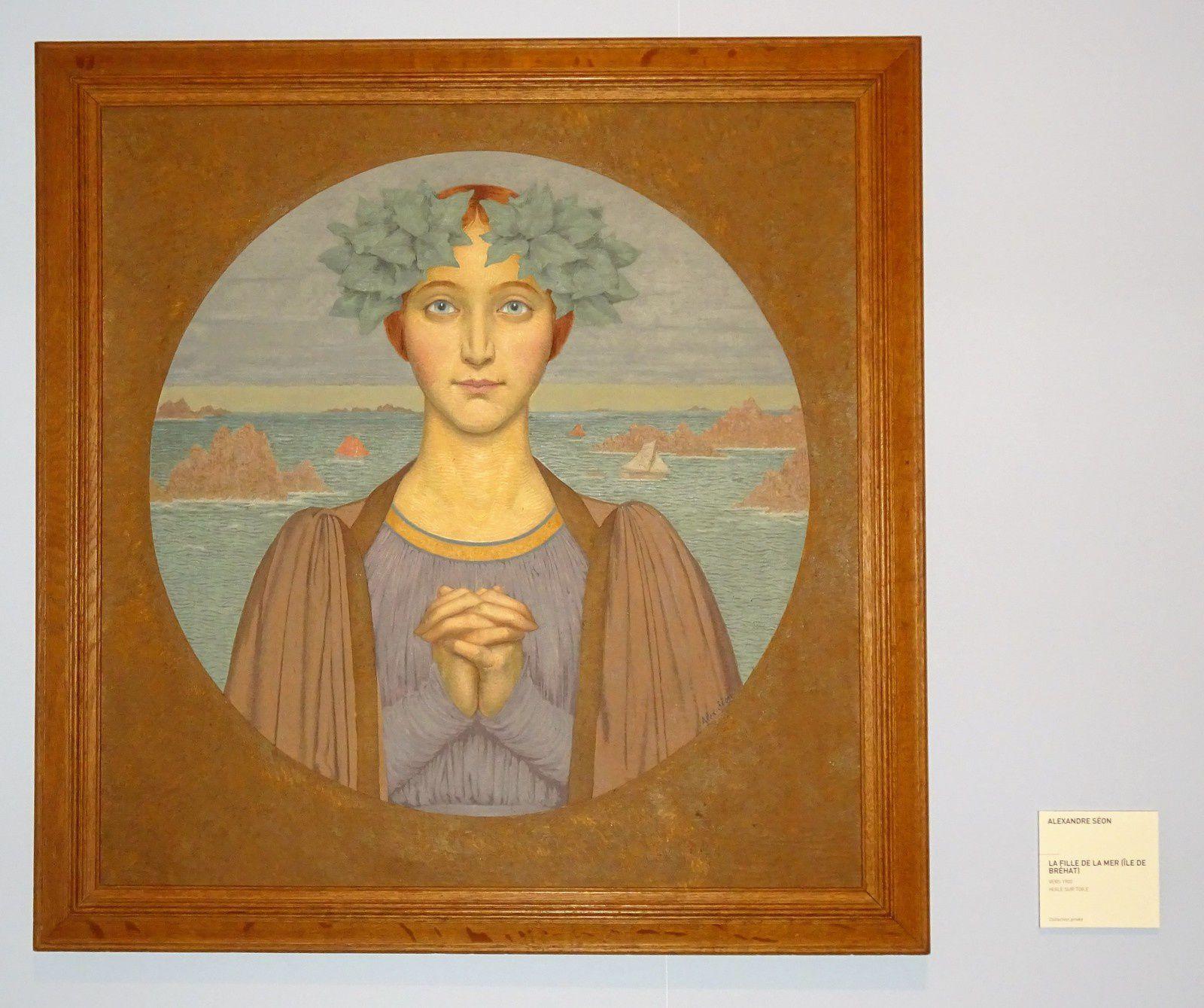 """"""" la fille de la mer """" sur l'île de Bréhat."""