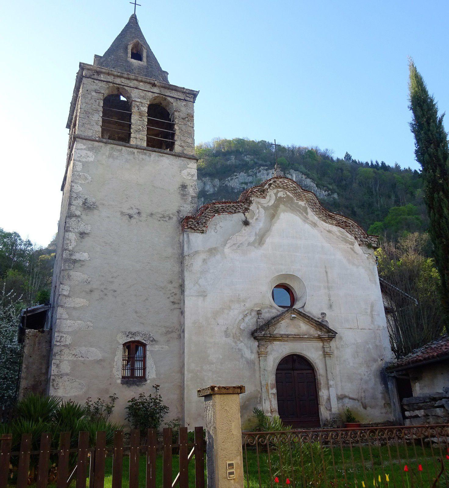 La vieille église de Cognin les Gorges et ....